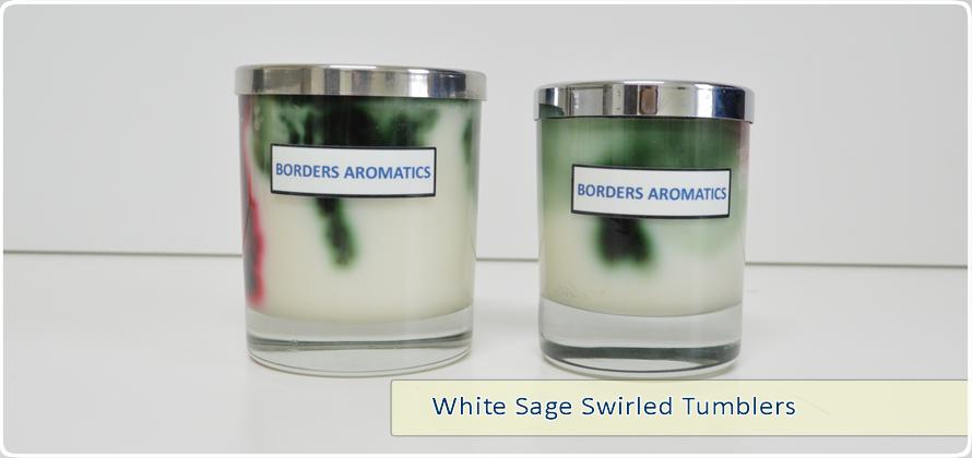 White Sage Swirled Tumblers