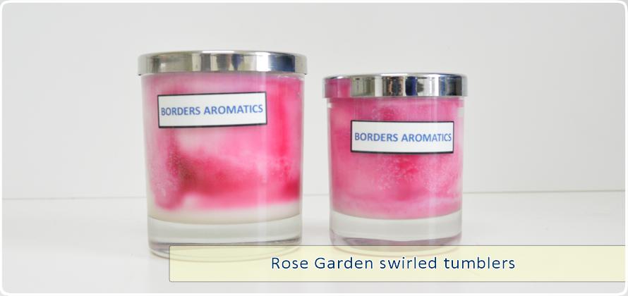 Rose Garden Swirled Tumblers